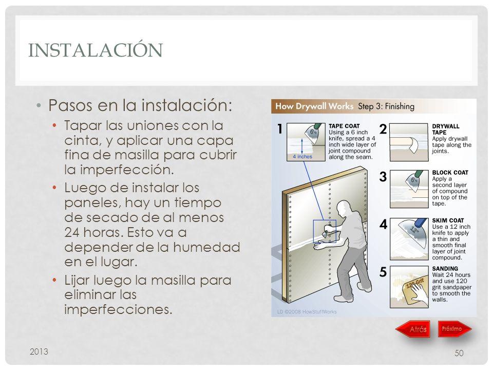 Instalación Pasos en la instalación: