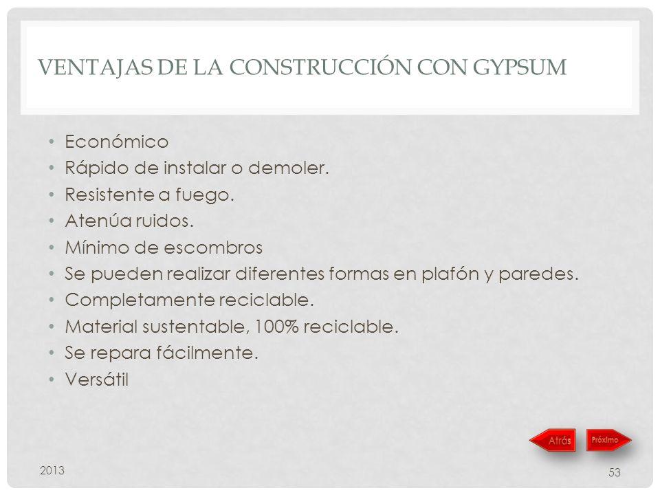 Ventajas de la construcción con Gypsum
