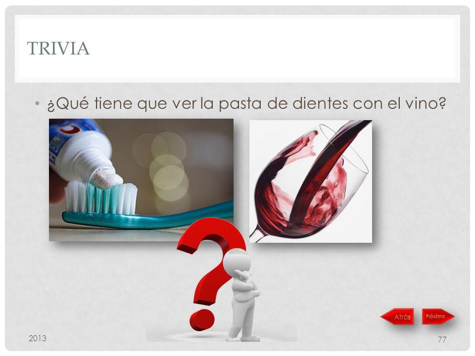 trivia ¿Qué tiene que ver la pasta de dientes con el vino 2013