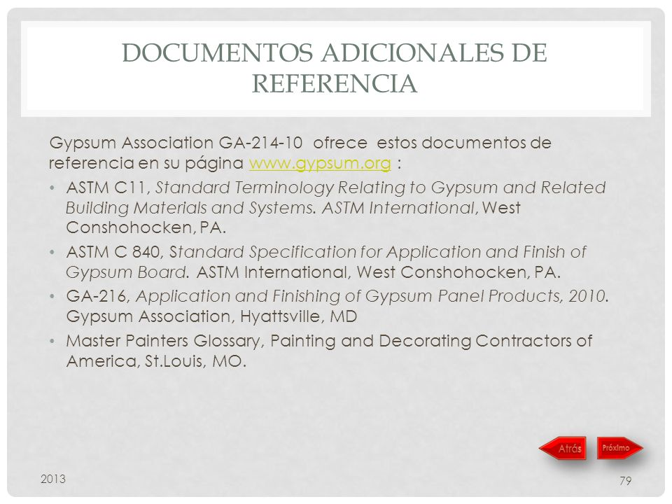Documentos adicionales de referencia