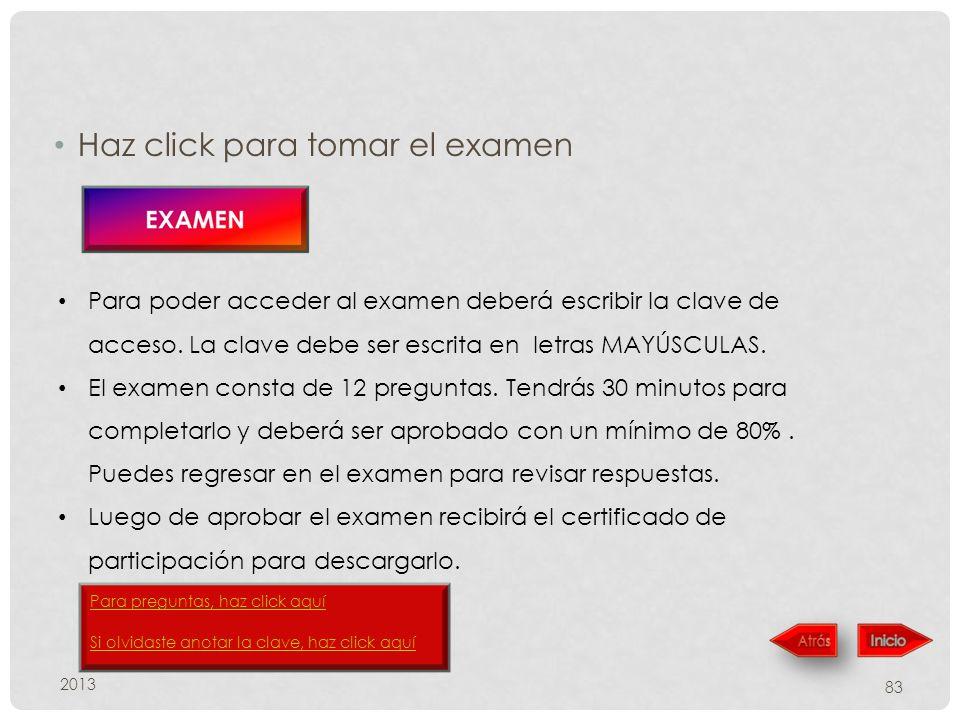 Haz click para tomar el examen