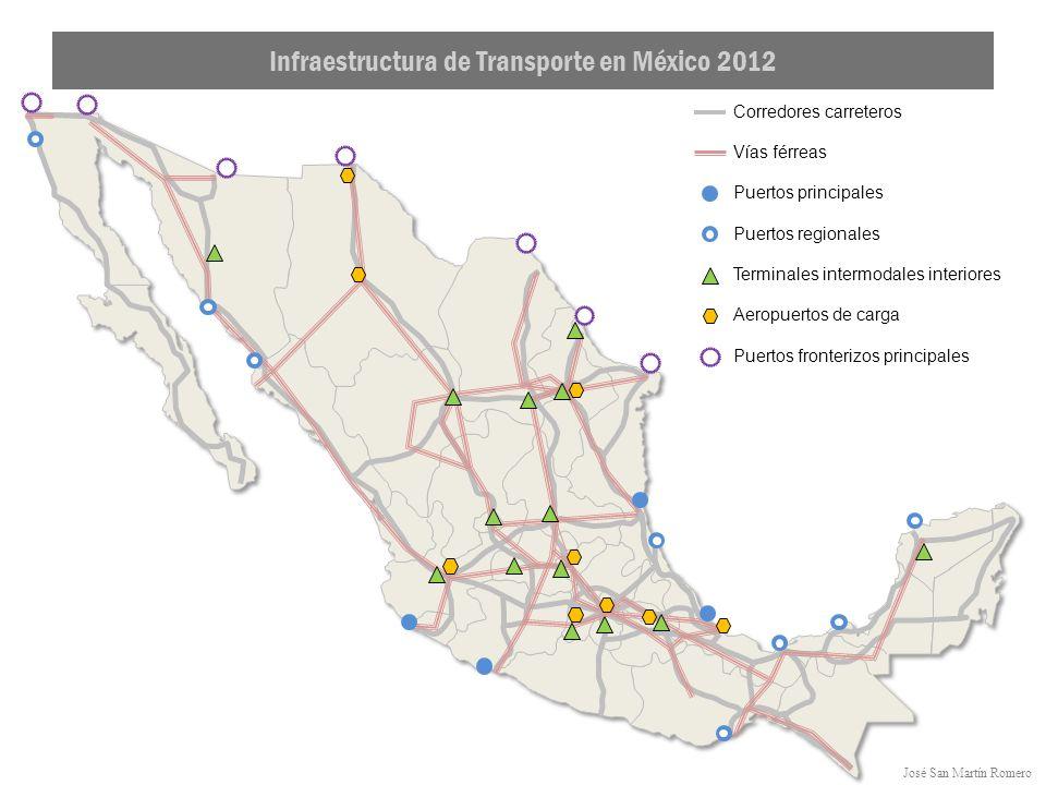 Infraestructura de Transporte en México 2012