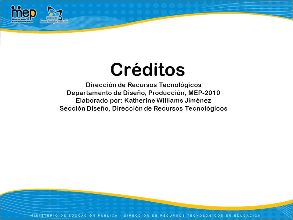Créditos Dirección de Recursos Tecnológicos