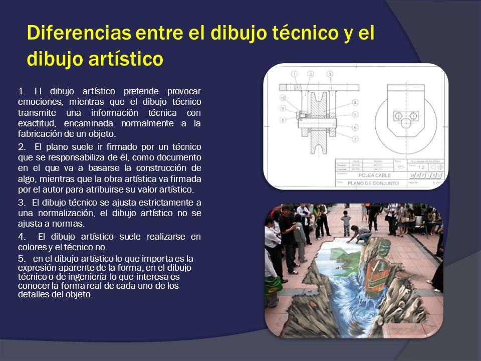 Diferencias entre el dibujo técnico y el dibujo artístico