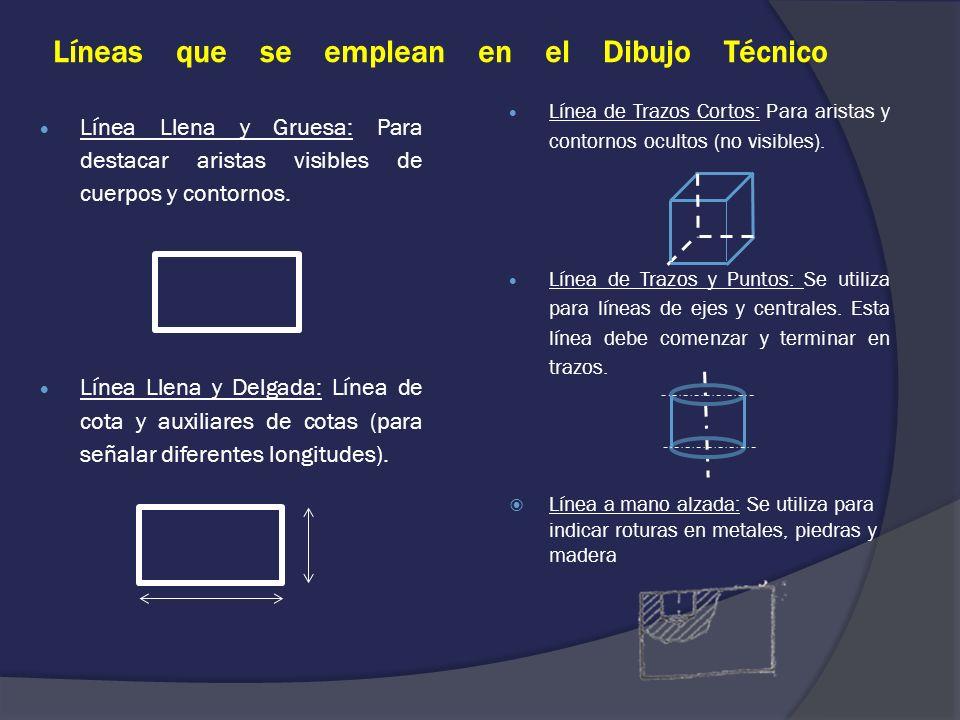 Líneas que se emplean en el Dibujo Técnico