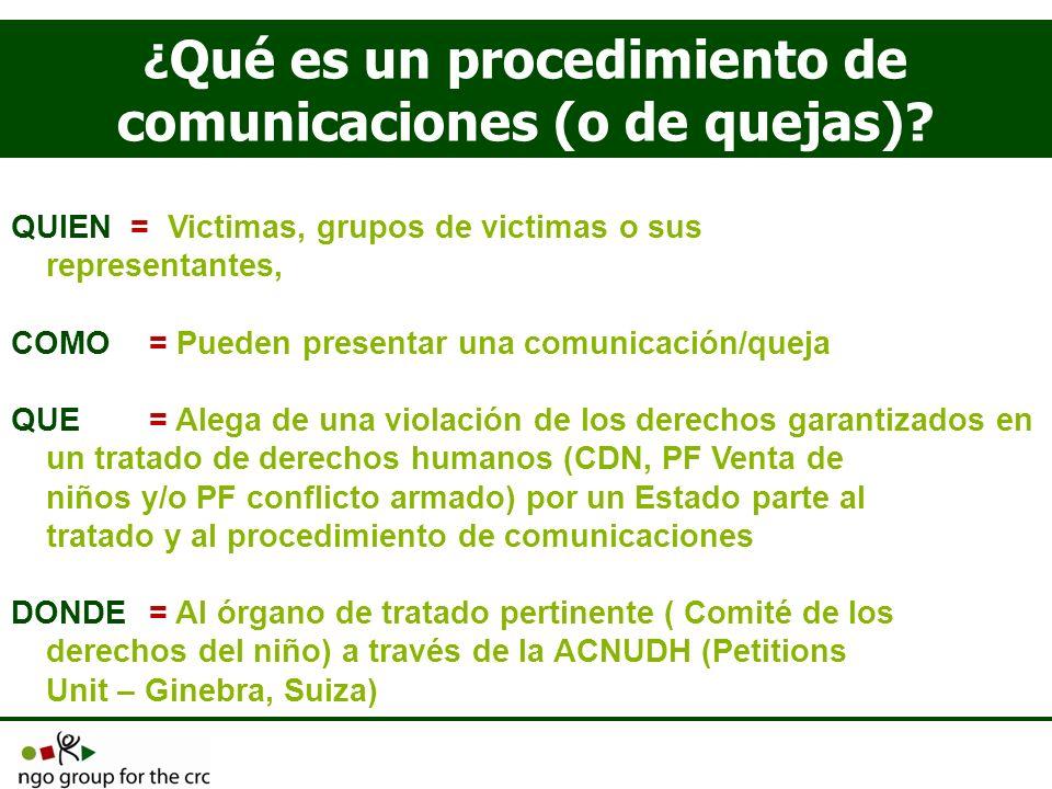 ¿Qué es un procedimiento de comunicaciones (o de quejas)