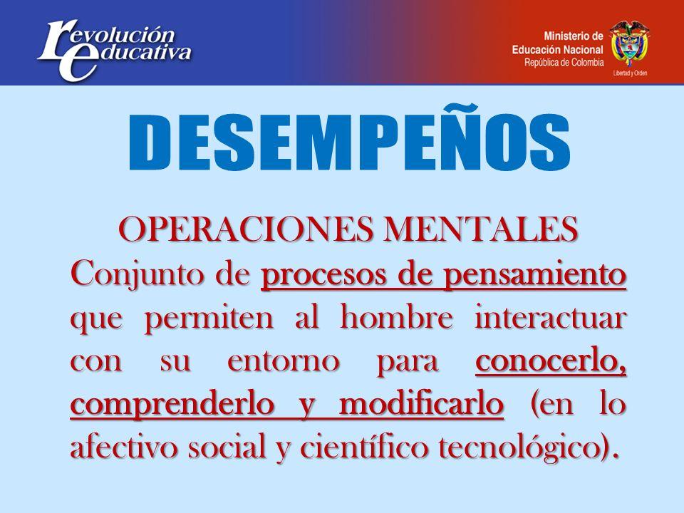 DESEMPEÑOS OPERACIONES MENTALES.