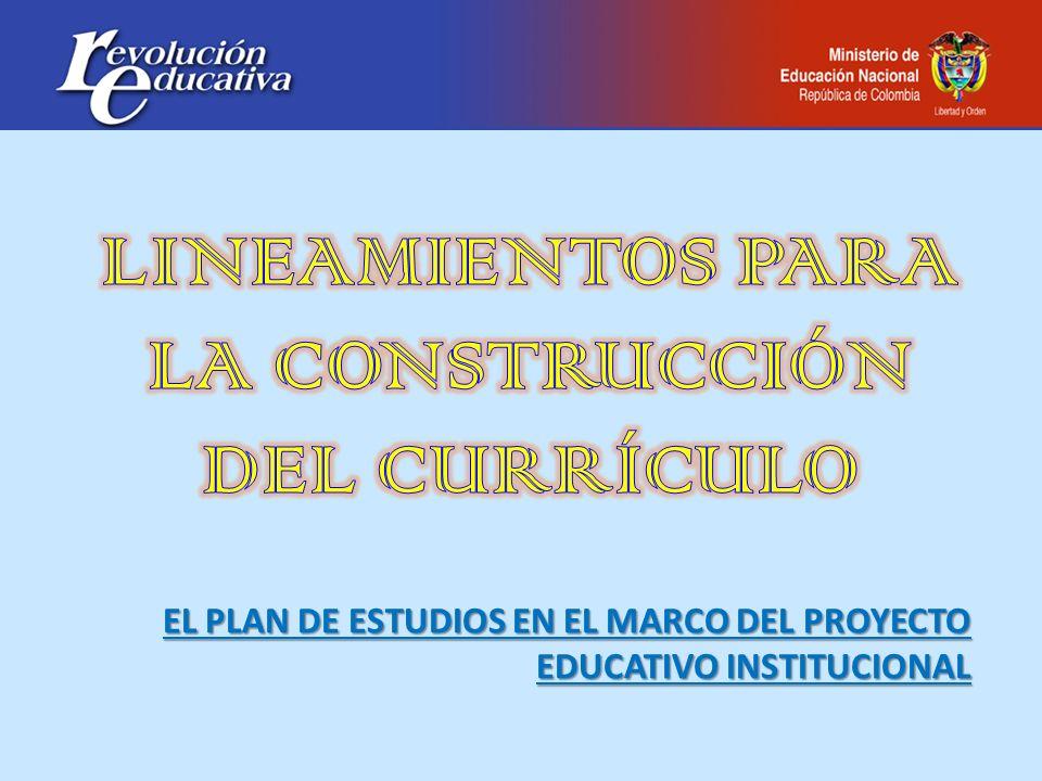 LINEAMIENTOS PARA LA CONSTRUCCIÓN DEL CURRÍCULO