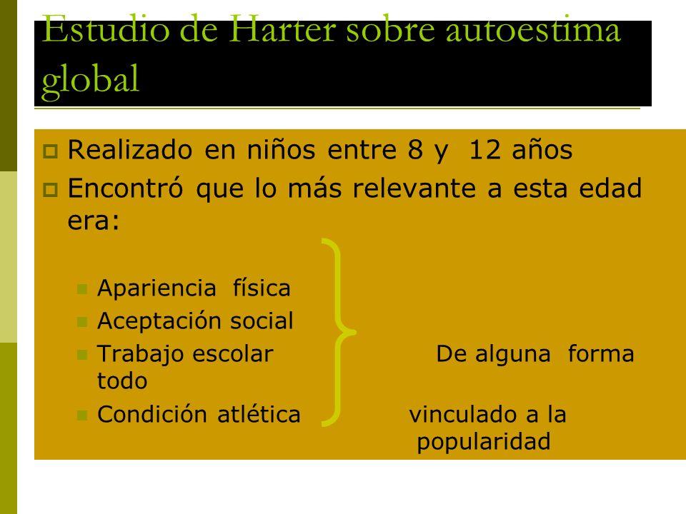 Estudio de Harter sobre autoestima global