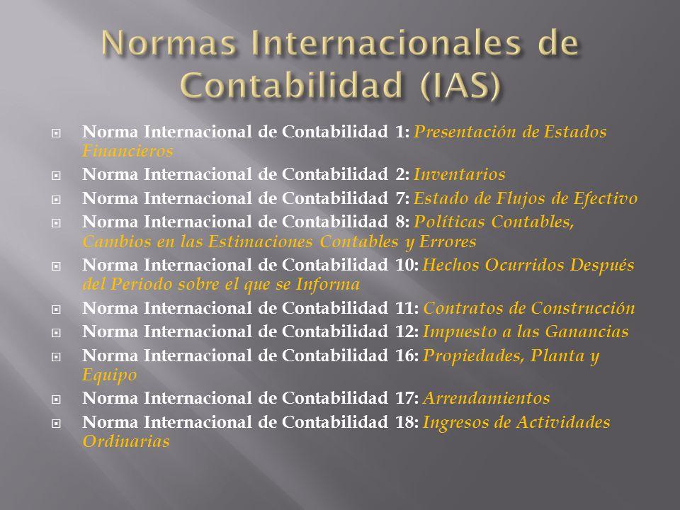 Normas Internacionales de Contabilidad (IAS)