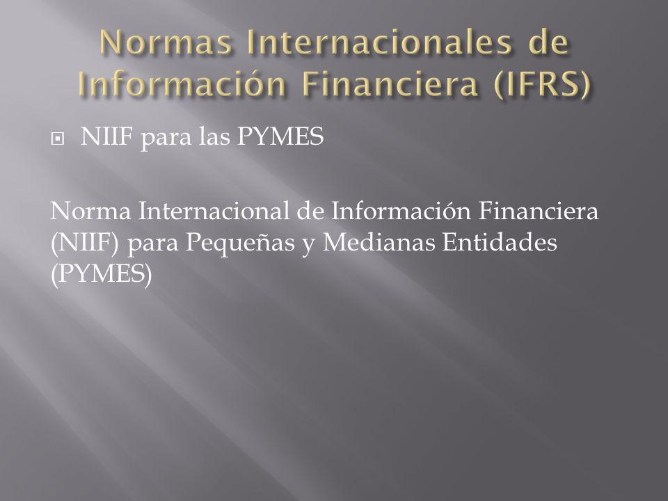Normas Internacionales de Información Financiera (IFRS)