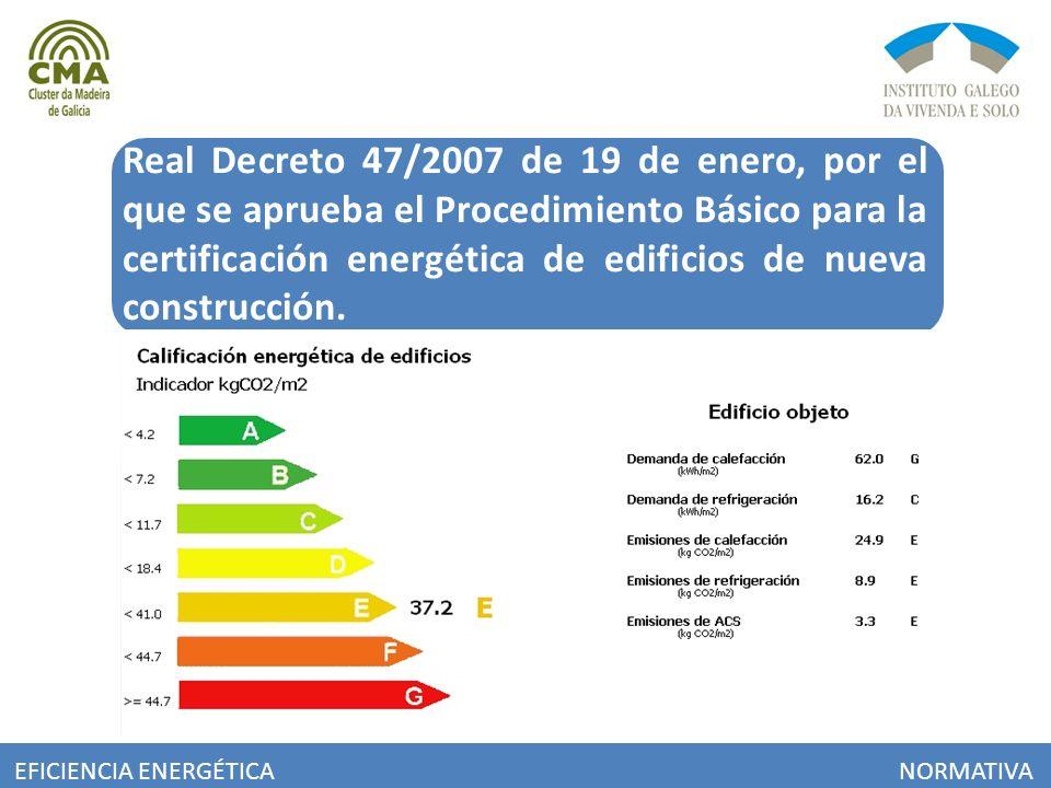 Real Decreto 47/2007 de 19 de enero, por el que se aprueba el Procedimiento Básico para la certificación energética de edificios de nueva construcción.