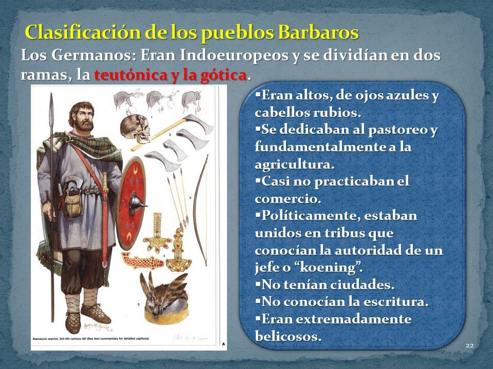 Clasificación de los pueblos Barbaros