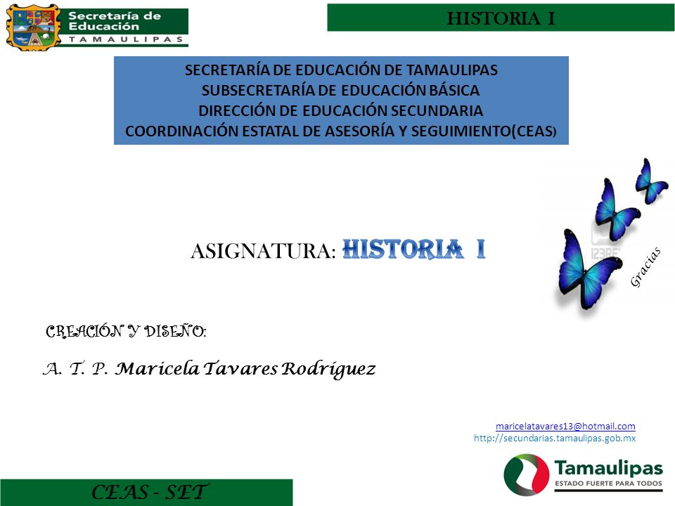 ASIGNATURA: HISTORIA I