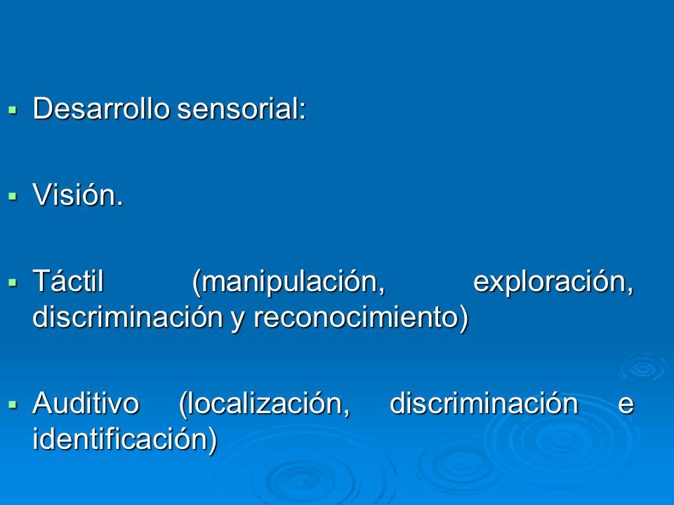 Desarrollo sensorial: