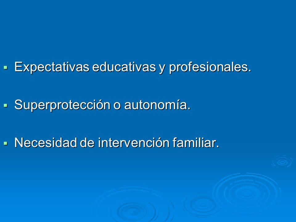 Expectativas educativas y profesionales.
