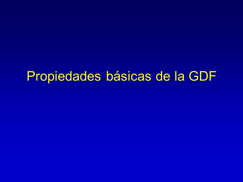 Propiedades básicas de la GDF