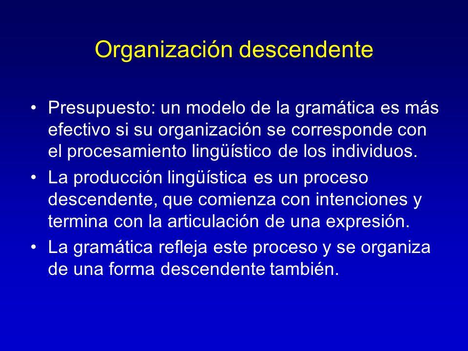 Organización descendente
