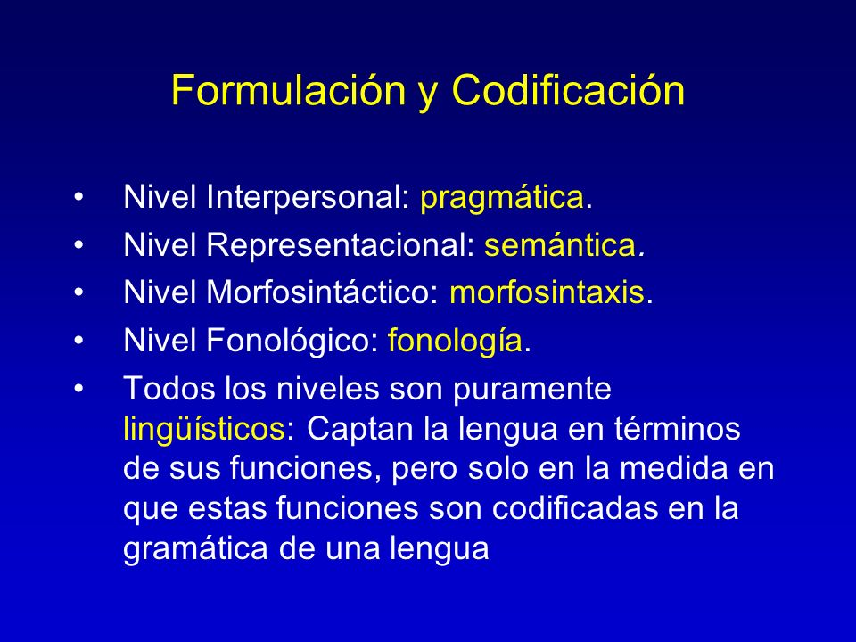 Formulación y Codificación