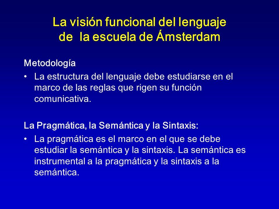 La visión funcional del lenguaje de la escuela de Ámsterdam