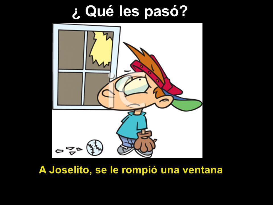 A Joselito, se le rompió una ventana