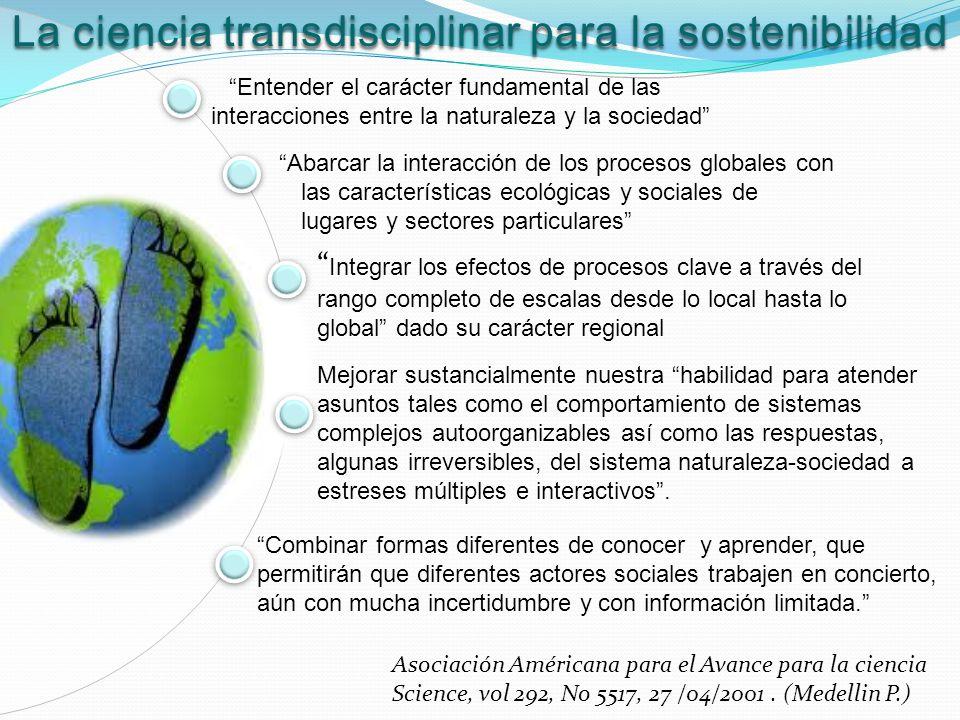 La ciencia transdisciplinar para la sostenibilidad