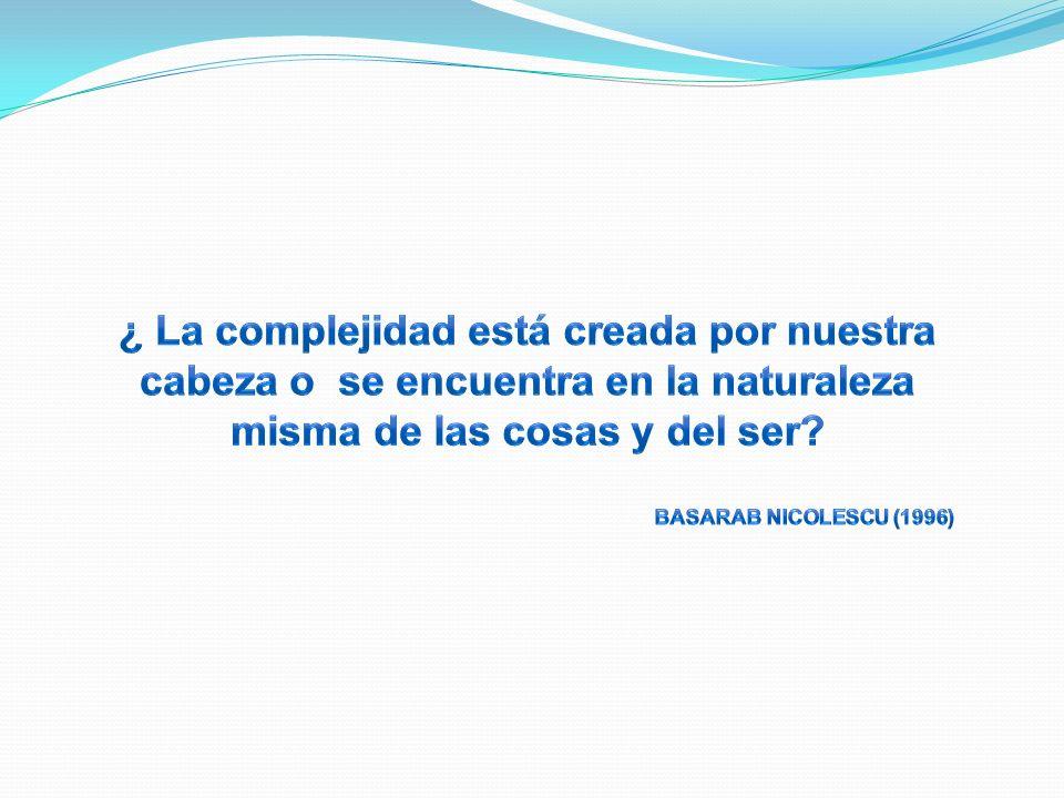 ¿ La complejidad está creada por nuestra cabeza o se encuentra en la naturaleza misma de las cosas y del ser