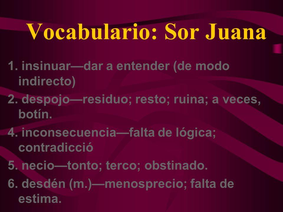 Vocabulario: Sor Juana