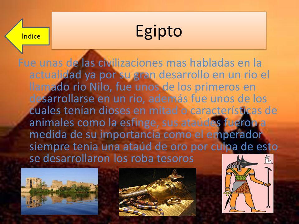 Egipto Índice.