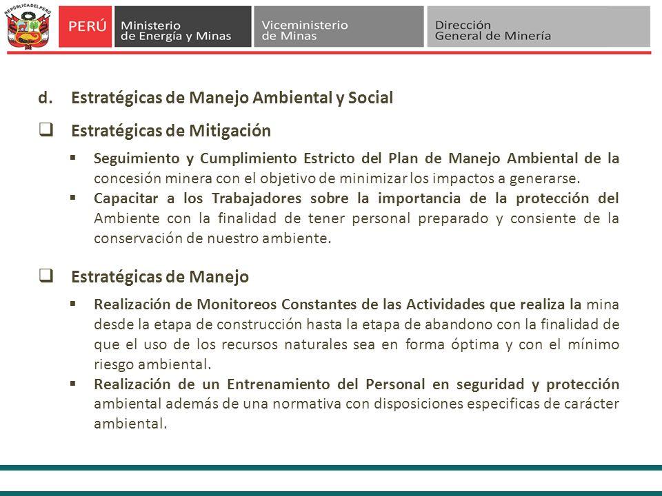 Estratégicas de Manejo Ambiental y Social