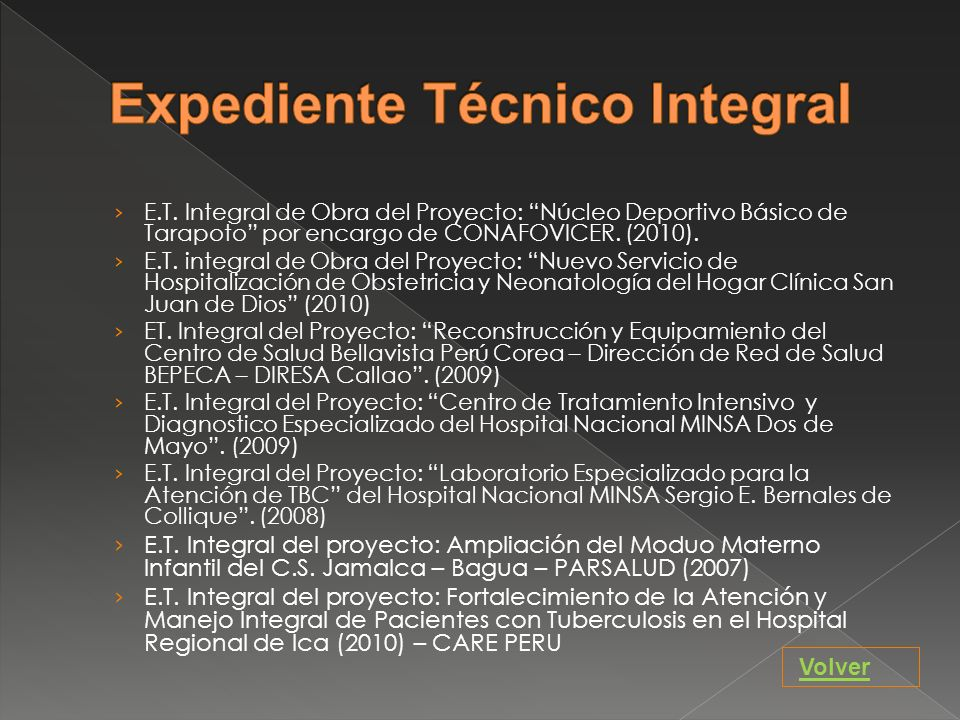 Expediente Técnico Integral