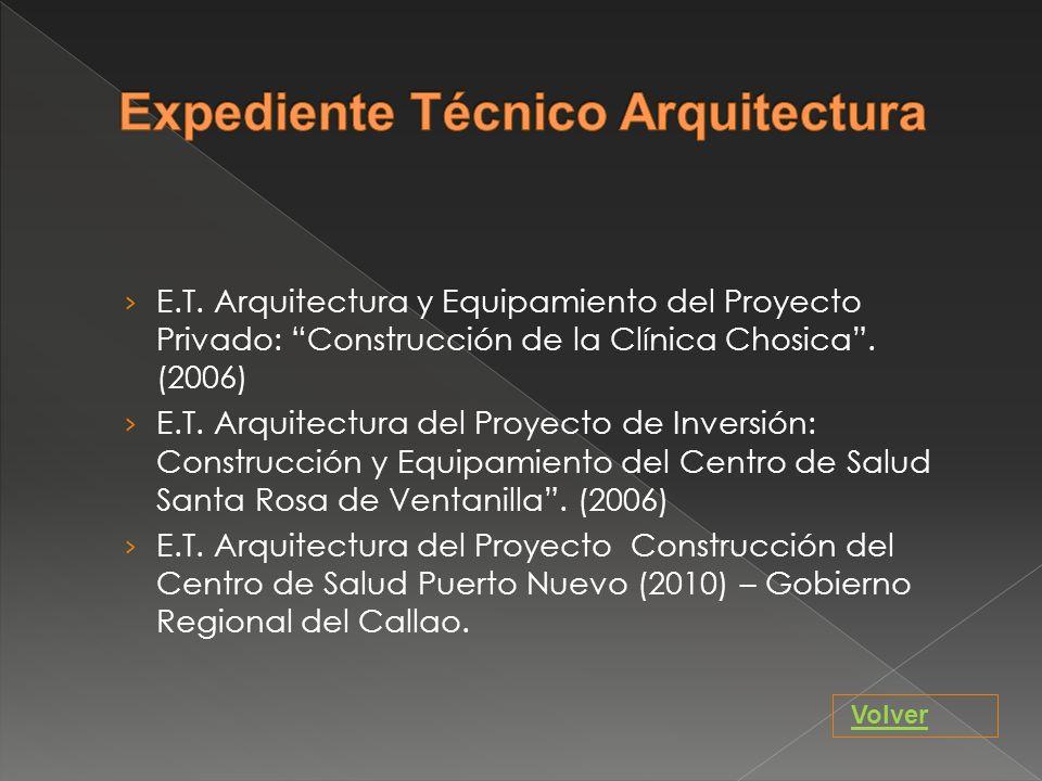 Expediente Técnico Arquitectura