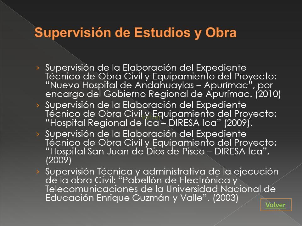 Supervisión de Estudios y Obra
