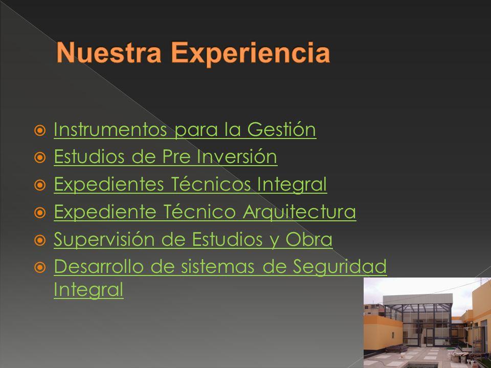 Nuestra Experiencia Instrumentos para la Gestión