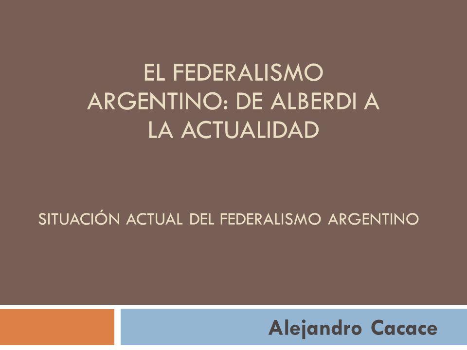Situación Actual del federalismo Argentino