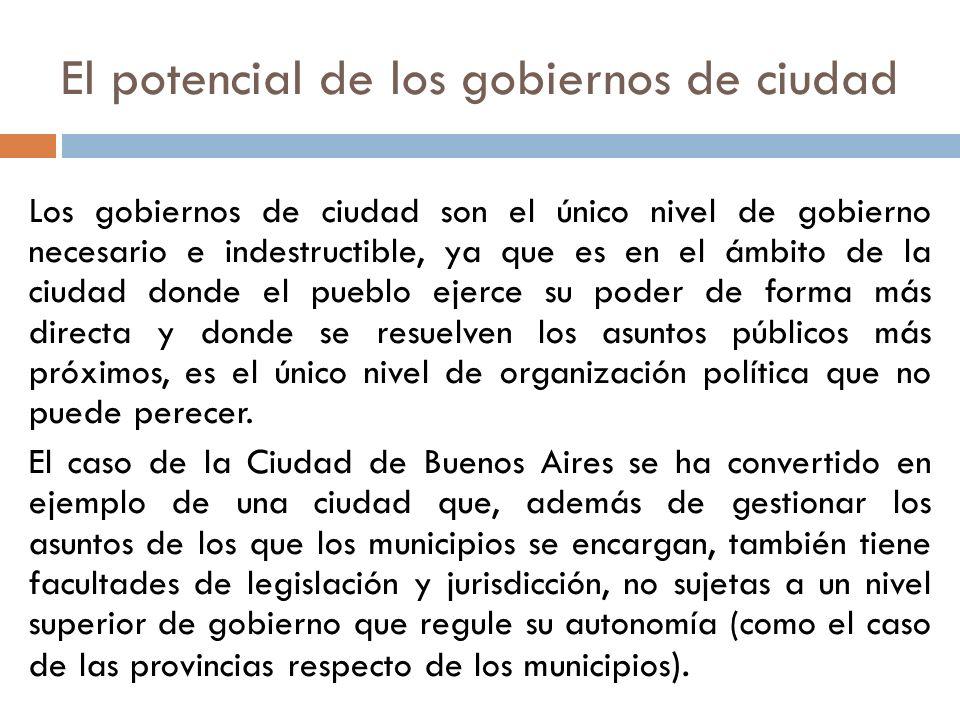 El potencial de los gobiernos de ciudad