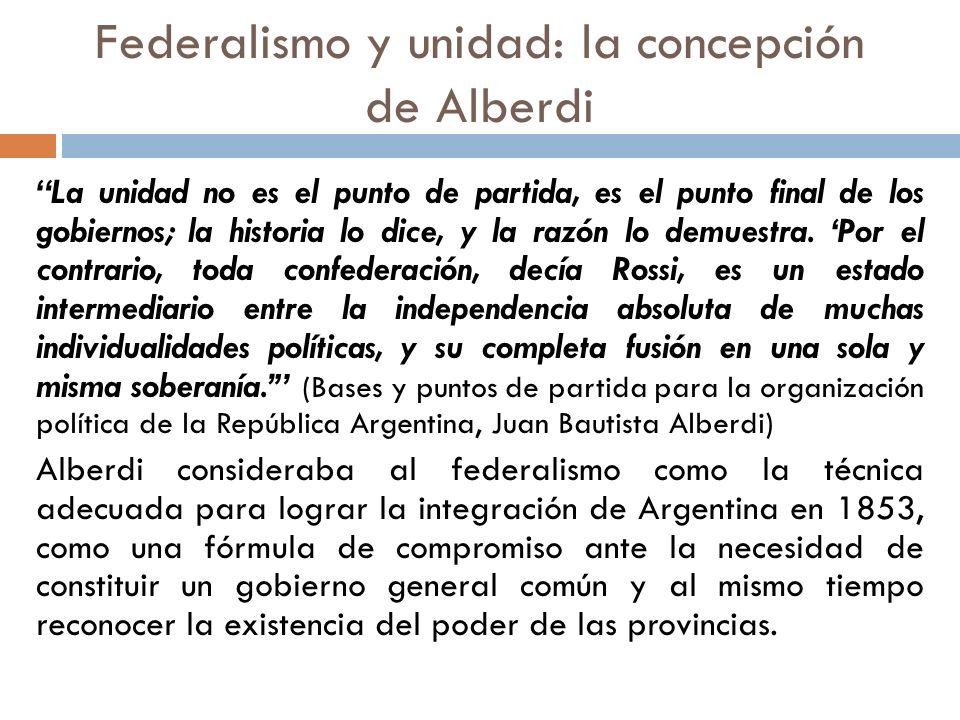 Federalismo y unidad: la concepción de Alberdi