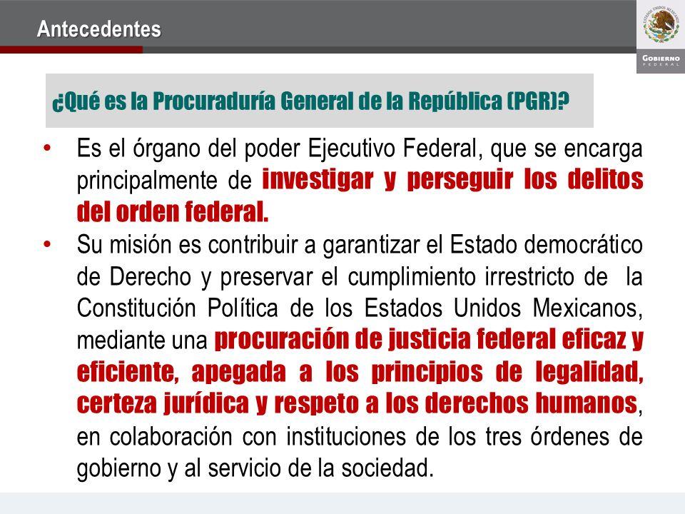 Antecedentes ¿Qué es la Procuraduría General de la República (PGR)