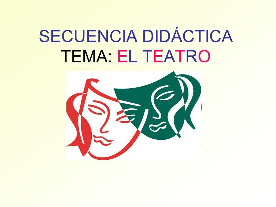 SECUENCIA DIDÁCTICA TEMA: EL TEATRO