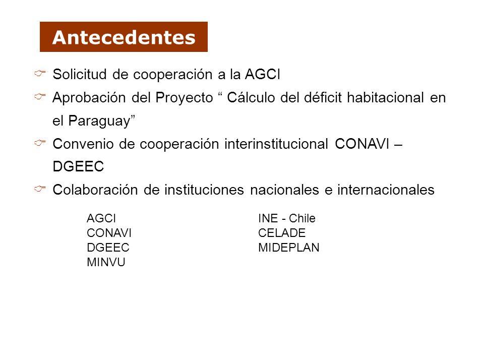 Antecedentes Solicitud de cooperación a la AGCI
