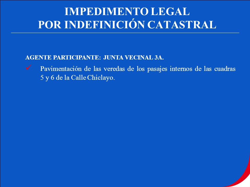 POR INDEFINICIÓN CATASTRAL