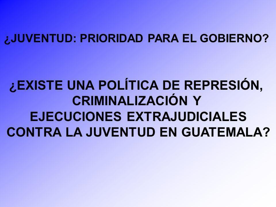 ¿EXISTE UNA POLÍTICA DE REPRESIÓN, CRIMINALIZACIÓN Y