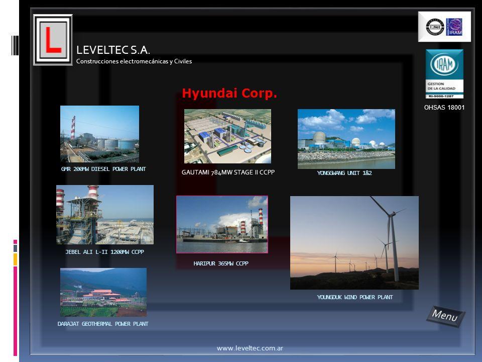 LEVELTEC S.A. Hyundai Corp. Menu www.leveltec.com.ar