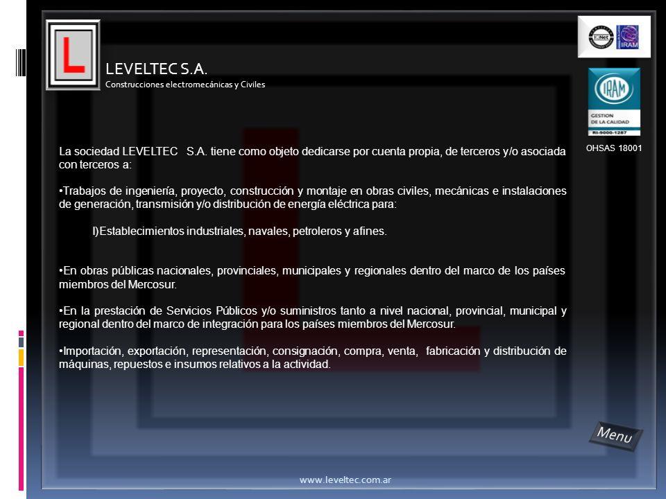 LEVELTEC S.A. Construcciones electromecánicas y Civiles.