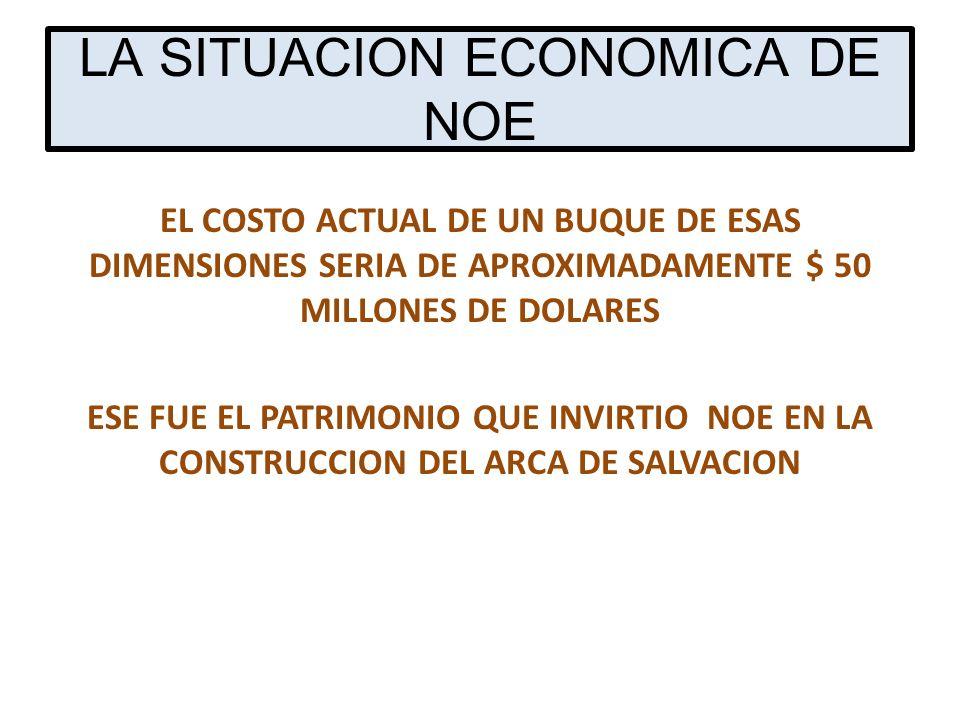 LA SITUACION ECONOMICA DE NOE