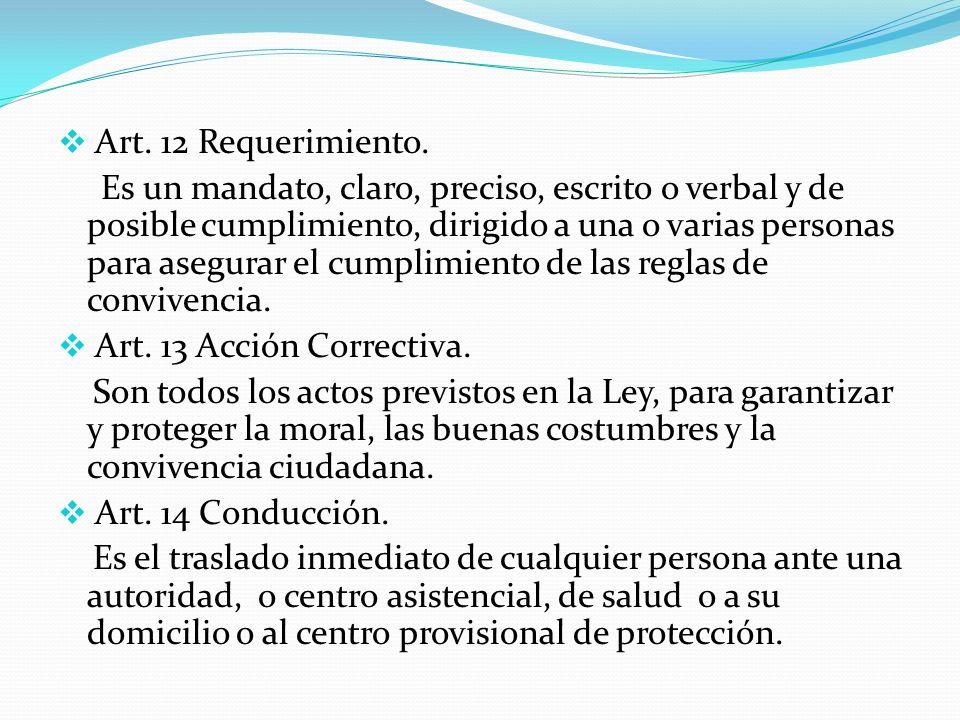 Art. 12 Requerimiento.