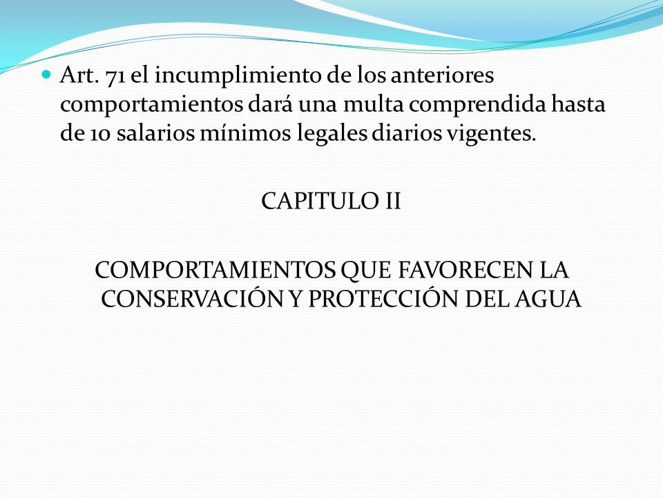 COMPORTAMIENTOS QUE FAVORECEN LA CONSERVACIÓN Y PROTECCIÓN DEL AGUA