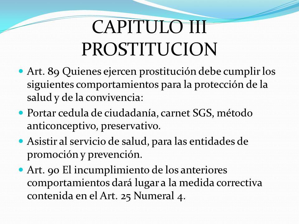 CAPITULO III PROSTITUCION