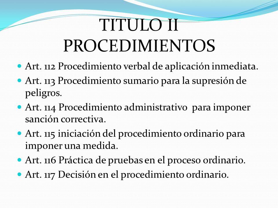 TITULO II PROCEDIMIENTOS