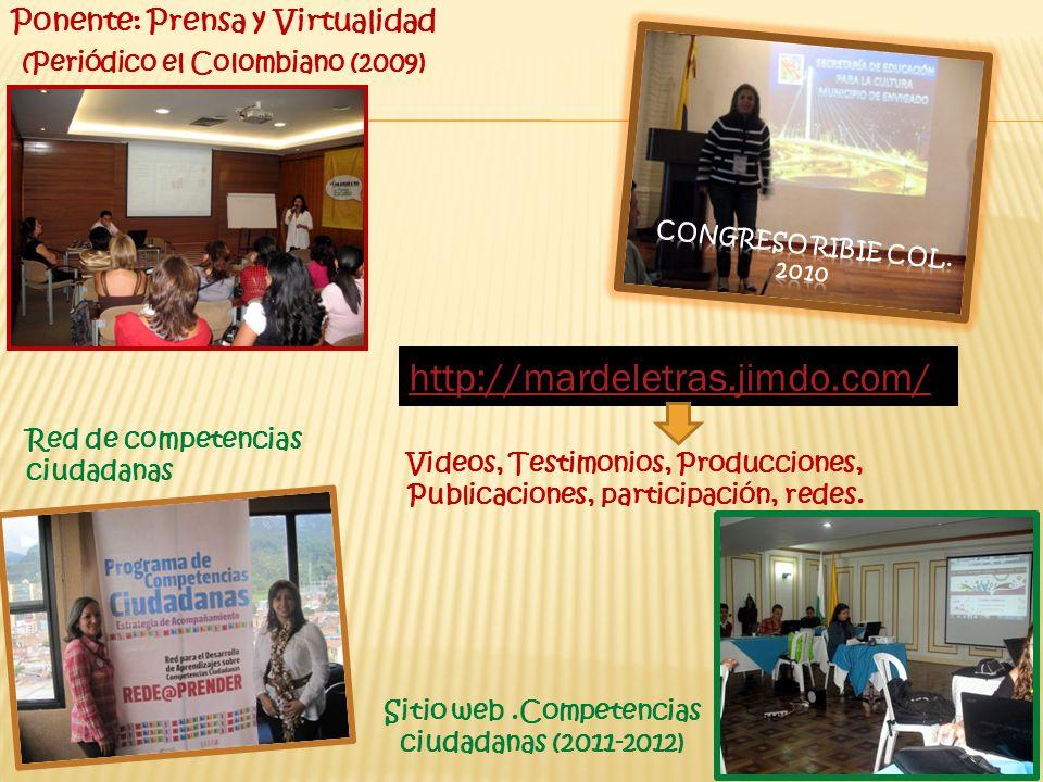 Sitio web .Competencias ciudadanas (2011-2012)
